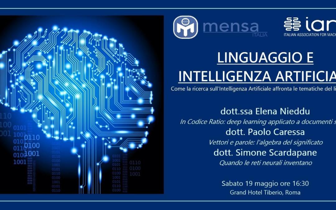 Linguaggio e intelligenza artificiale