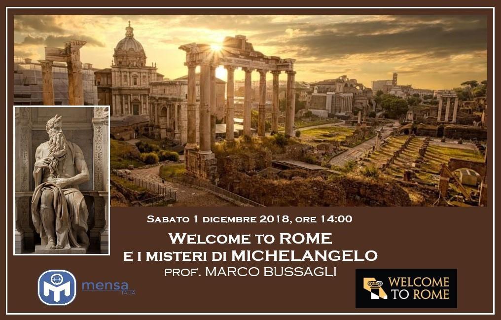 Welcome to Rome e I misteri di Michelangelo
