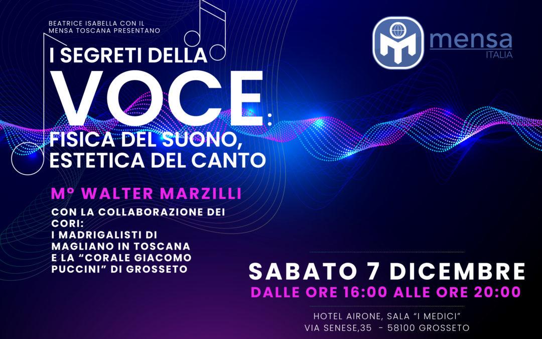 """Grosseto, 7.12.2019 – """"I segreti della voce: fisica del suono, estetica del canto"""""""