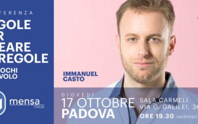 Padova, 17 ottobre 2019. Immanuel Casto | Regole per Creare le Regole