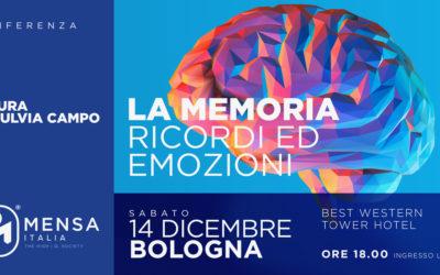"""Bologna, 14.12.2019. Conferenza """"La Memoria: Ricordi ed Emozioni"""" a cura di Fulvia Campo."""