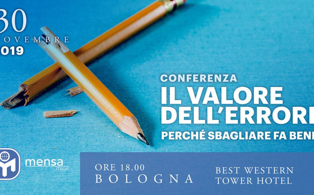 """Bologna, 30.11.2019. Conferenza """"Il Valore dell'Errore"""" a cura di Francesca Corrado."""