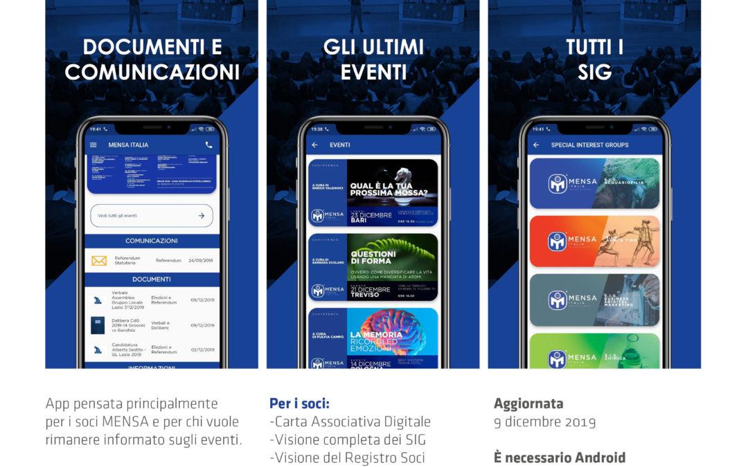 L'app ufficiale del Mensa Italia