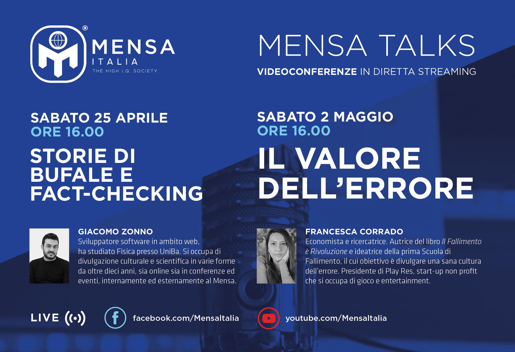 Mensa Talk: i prossimi appuntamenti