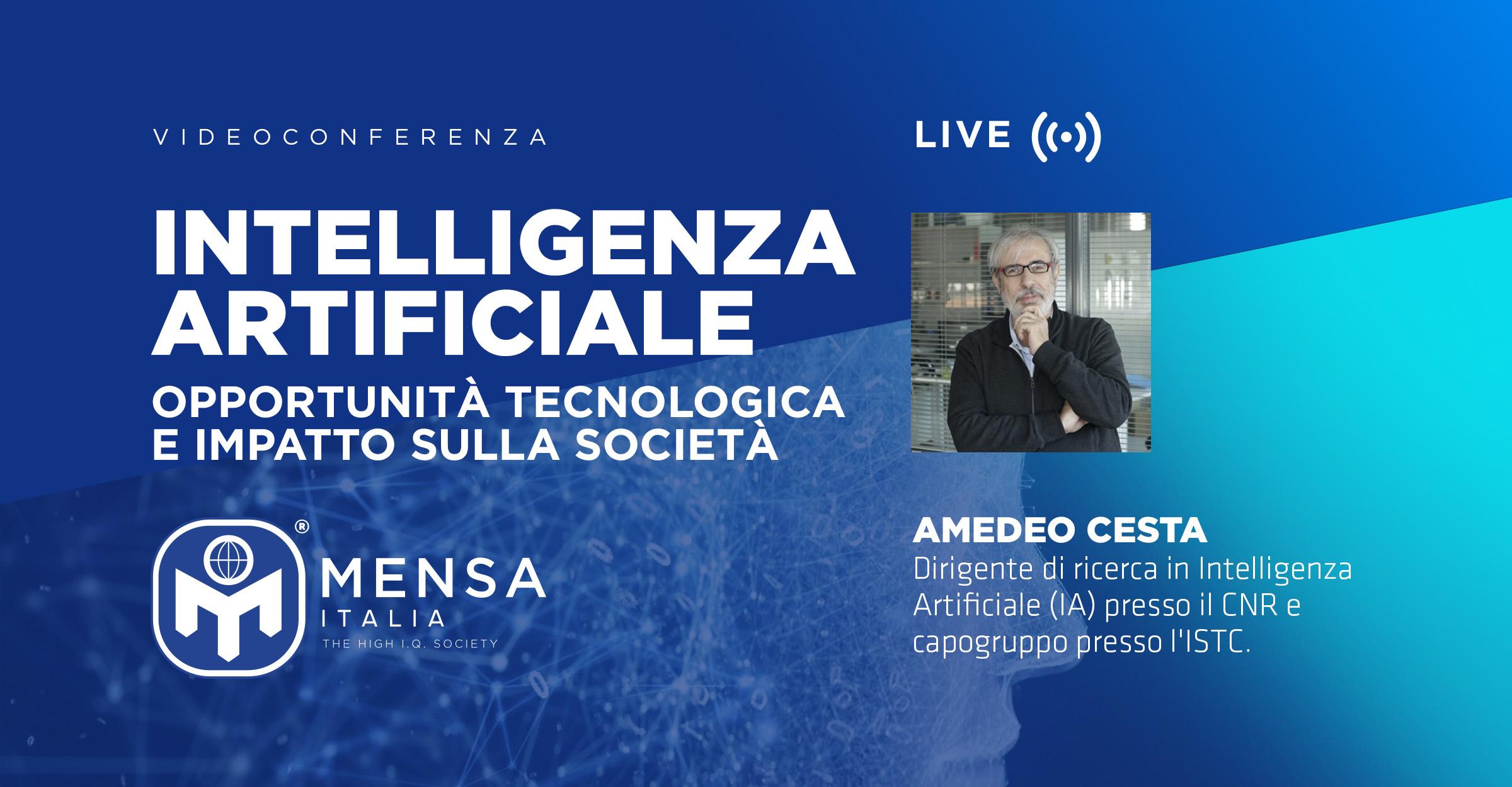 26 Maggio – videoconferenza: Intelligenza Artificiale (Opportunità Tecnologica e Impatto sulla Società)