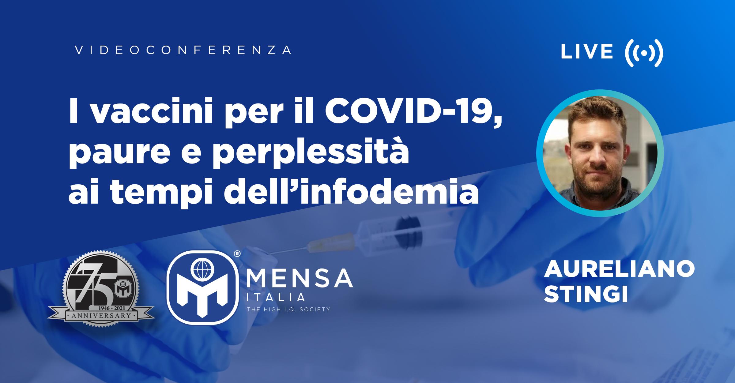 21 Ottobre: I vaccini per  il COVID-19 – paure e perplessità  ai tempi dell'infodemia